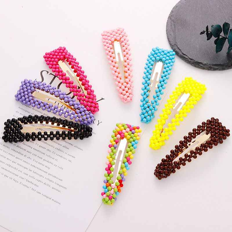 New Fashion Cute Colorful Beads Waterdrop Hairpins For Women Girls Headband Beads Hair Clip Barrettes Hair Accessories Drop Ship