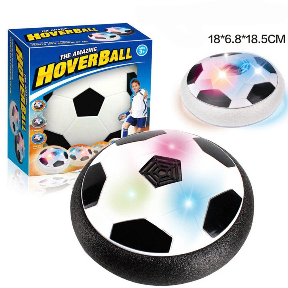 LED-Licht Blinkende Kugel Spielzeug Air Power Fußbälle Disc Gleiten Multi-oberfläche Schwebt Fußball Spiel Kid Chidren drop verschiffen