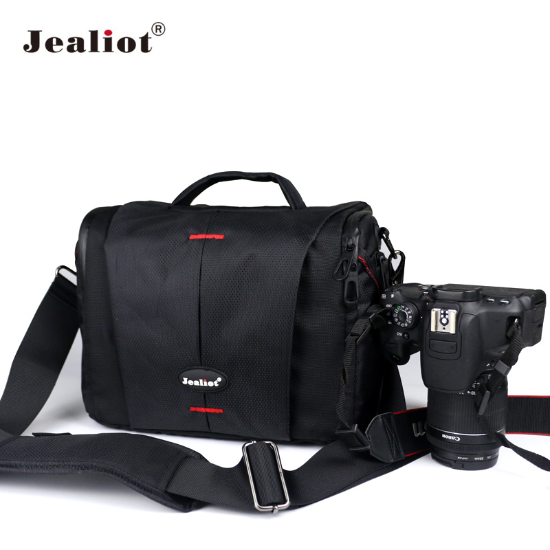 Jealiot DSLR Camera Bag Fashion Polyester Shoulder Bag Photo lens Case for Canon Nikon Olympus Panasonic digital Video camera jealiot waterproof slr dslr bag for camera bag shoulder digital camera video foto instax photo lens bag case for canon 6d nikon