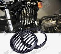 Black Anodized Headlight Grill For 5 3 4 Headlights Fit For Harley XL883 1200 Sportster 2004