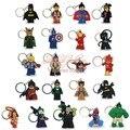 20pcs/lot  super heros Hulk super man keychains key holder Action Figure  Kids toy gift Key ring Hanging Accessories