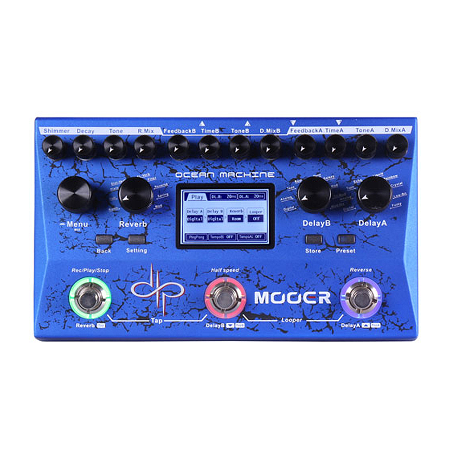 Mooer Ocean Machine Multi Guitar Effects Pedal 9 Reverb 15 Delay 24 Preset Spaces Professional Delay Reverb Looper TDL3 хай хэт и контроллер для электронной ударной установки roland fd 9 hi hat controller pedal