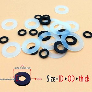 100pcs M2 M2.5 M3 M4 M5 M6 M8 M10 M12 White Black Plastic Nylon Flat Washer Plane Spacer Insulation Gasket Ring For Screw Bolt(China)