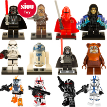 Legoing Star Wars Building Blocks starwars leia Sith Lord Darth Vader Maul Chewbacca Sidious bricks toys kits legoing figures YF(China)