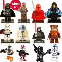 Legoing Star Wars Building Blocks starwars leia Sith Lord Darth Vader Maul Chewbacca Sidious bricks toys kits legoing figures YF