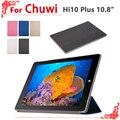 Ультра-тонкий Чехол Case Для Chuwi Hi10 Плюс 10.8 дюймов Tablet PC для Chuwi Hi10Plus Case Pu Кожа Смарт-Чехол + бесплатная 2 подарки