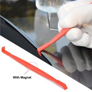 Image 1 - FOSHIO Araba Araçları Karbon Fiber Vinil Kenar Wrap Manyetik Silecek Kazıyıcı Araba yapışkan film Mıknatıs Köşe Sopa Kurulum Aracı