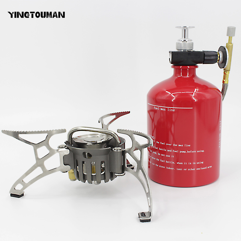 YINGTOUMAN Portable Oil&Gas Multi Fuel Stoves Outdoor Kerosene Stove Burners 1000ml Big Capacity Gasoline Stove