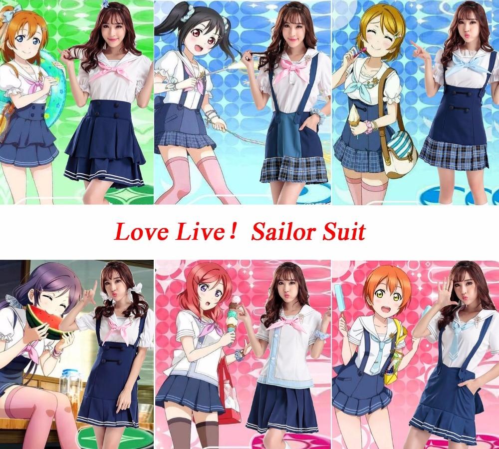 Love Live Maki Nishikino Yazawa Nico Tojo Nozomi Kousaka Honoka Hoshizora Rin Sailor Suit Dress Cosplay Costumes School Uniform