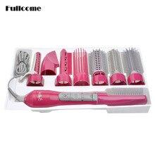 110/220V 8 In 1 Hair Styling Tools Electric Hair Dryer Hairdryer , Hair Straightener / Blow Dryer /Hair Curler /Comb HS12_N5676