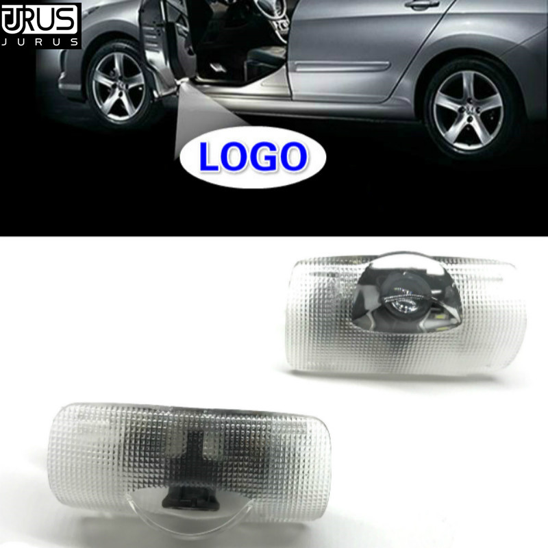 JURUS 2pcs led car door light welcome lamp replace case for toyota reiz corolla prado led logo projector laser car-styling hot