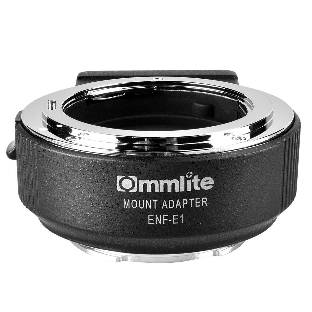Commlite CM-ENF-E1 PRO Auto de enfoque de la lente adaptador de montaje para Nikon F lente sólo para Sony E montaje A7R2 A7II A6300 a6500 A7R Mark II