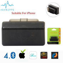 Aganippe ELM 327 Bluetooth OBD2 Auto Scanner Mini ELM327 OBD 2 Bluetooth Adapter eml327 Car Diagnostic Tool For iPhone/Android