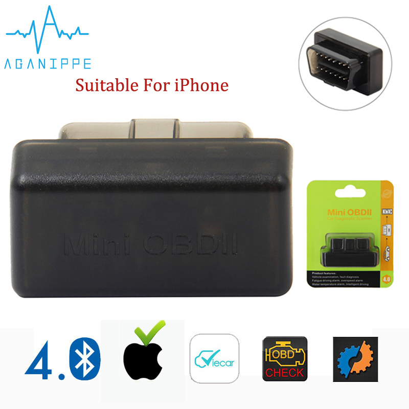 Aganippe ULME 327 Bluetooth OBD2 Auto Scanner Mini ELM327 OBD 2 Bluetooth Adapter eml327 Auto Diagnose Werkzeug Für iPhone/ android