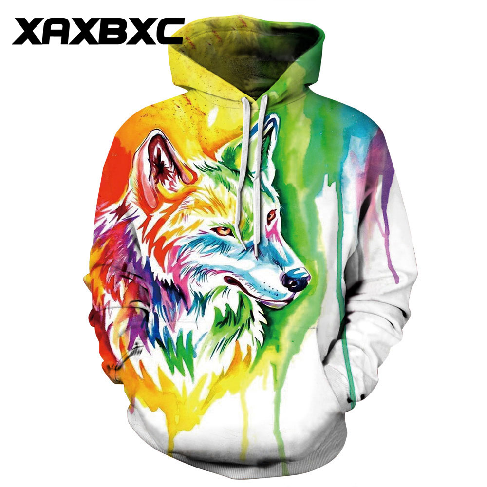 Hoodies & Sweatshirts New 072 Galaxy Graffiti Rasta Monkey Elder Printed Women Jacket Hooded Femme Sweatshirt Casual Loose Men Pocket Hoodies Coat