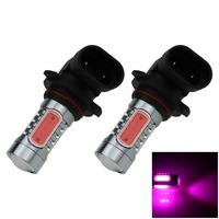 2pcs Pink Purple 5 COB LED H10 Bulb Fog Light Parking Non Polar Lamp PY20D 7