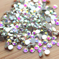 Hot Top Quality SS3-SS30 Crystal AB Color Super Shiny Nail Art Rhinestones Non Hotfix Flatback Strass Stone Nail Decorations