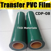 Premium Garment PVC transfer film size 0.5*25m each roll with high quality by free shipping CDP 22 dark green color