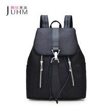 JUHM Marke Neue Schultasche Rucksack Frauen Schwarz Wasserdicht Oxford Schultaschen Für Mädchen Im Teenageralter Billige Rucksäcke 27*14*33 CM