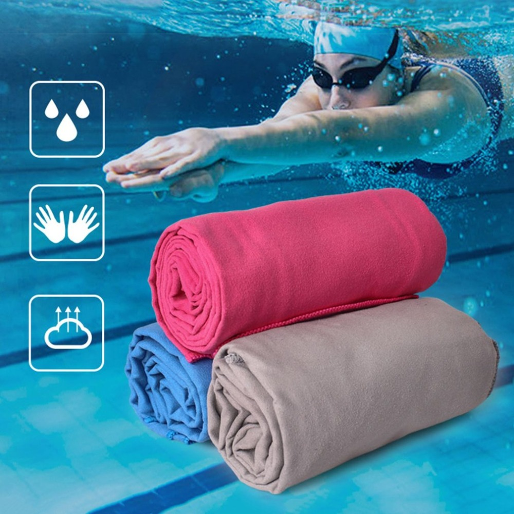 1PC Portable Quick-Dry Sweat-absorbent Sport Towel with Case Outdoor Gym Running