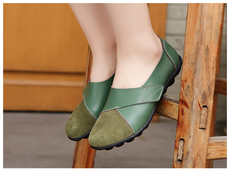 AH 1987-2019 Spring Autumn Women's Shoes Genuine Leather Woman Loafers-14