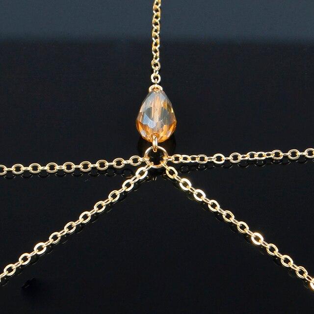 Купить свадебные ювелирные изделия на лбу модные золотая бижутерия
