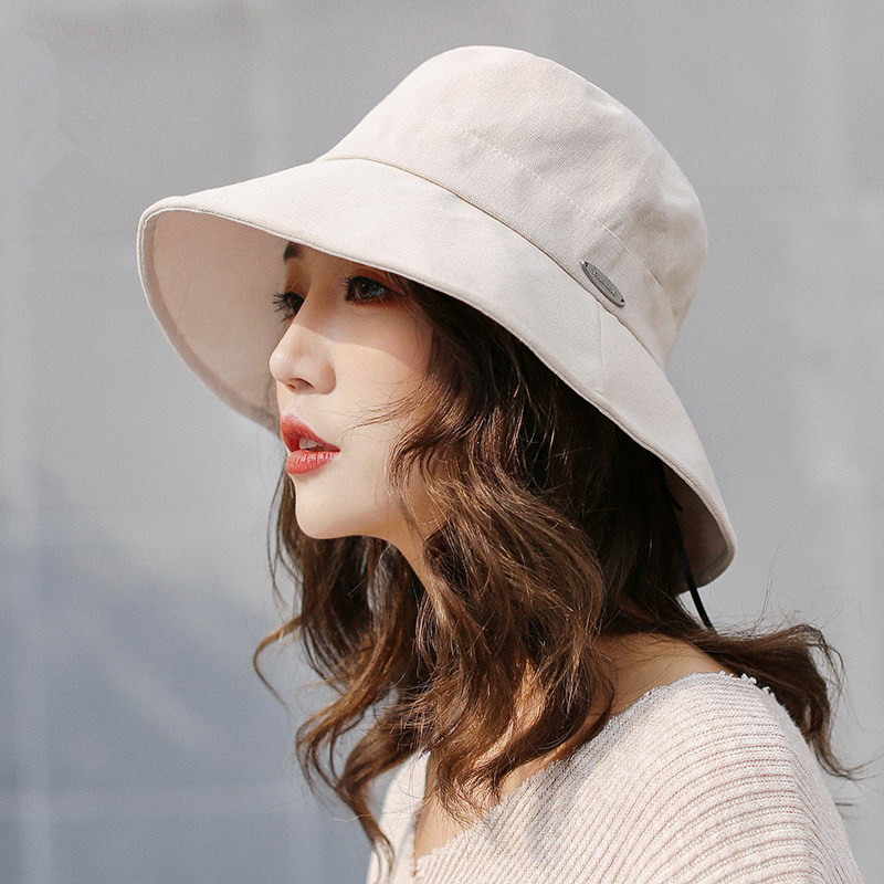 2019 new women sun hat ladies summer sunscreen new Korean version of the fisherman hat Japanese solid color bucket men basin cap