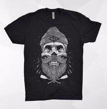 Kult T Shirt Skeleton Skull Beard Barber Sailor Death Bones Rock Metal Punisher 2019 Summer New Summer Fashion Men Funny T-Shirt