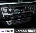 Carbon Fiber Console Air Condition+CD Panel Frame Cover Trim For BMW X5 E70 2008-13 Car interior accessories