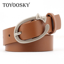 Fashion Female Women Belt Hot Ladies Faux Leather Metal Buckle Straps Girls Summer Dress Accessories TOYOOSKY
