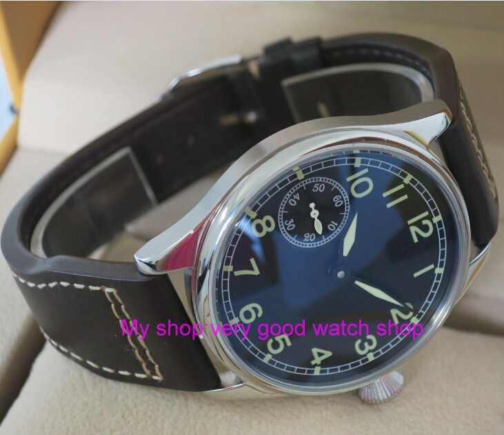 44mm PARNIS black dial Green number Asian 6497/3600 Mechanical Hand Wind movement Luminous men's watch Mechanical watches 159 чехол deppa air case для sony xperia z3 розовый 83140