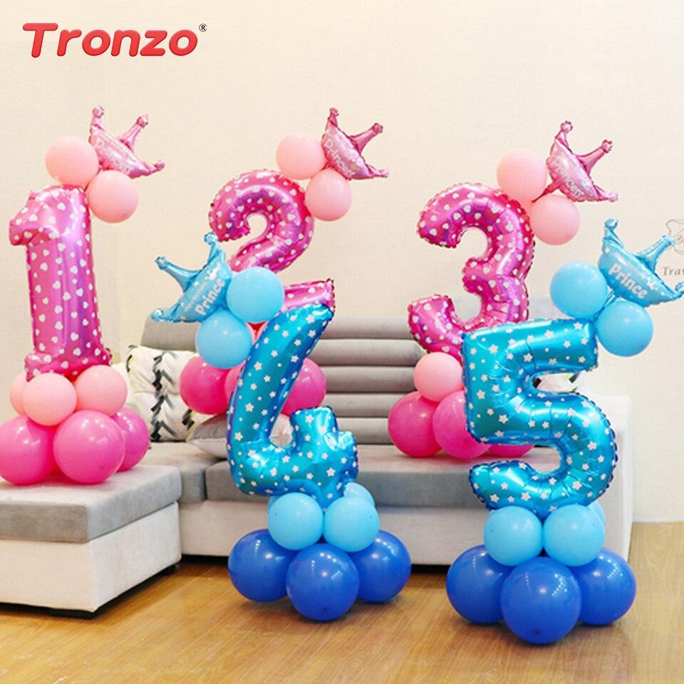 Tronzo 13 قطع تاج عدد احباط بالونات حزب - الأعياد والحفلات