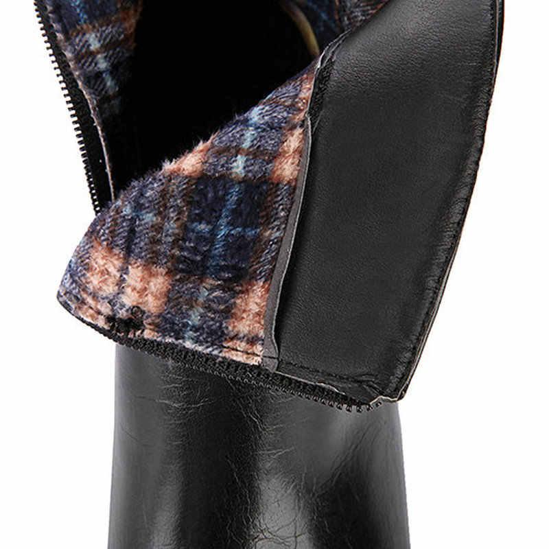 Kadın Moda Kristal Yan Fermuar Ile yarım çizmeler Rahat Kare Topuk Kış Ayakkabı Siyah Gri Yeşil