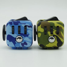 2017 New Camouflage Fidget Cube Toys A Vinyl Desk Toys For Girl Boys Chrismtas Gifts Fidget Cube Toys Cube