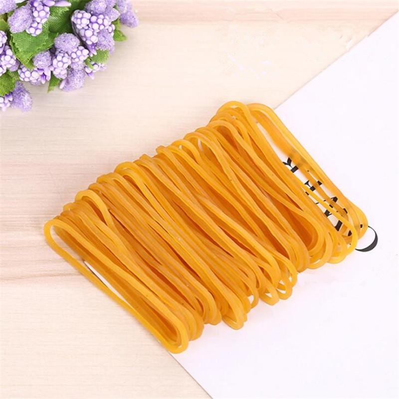 300pcs Yellow Rubber Elastic Bands Stationery Holder Packing 120mm SJD13-4