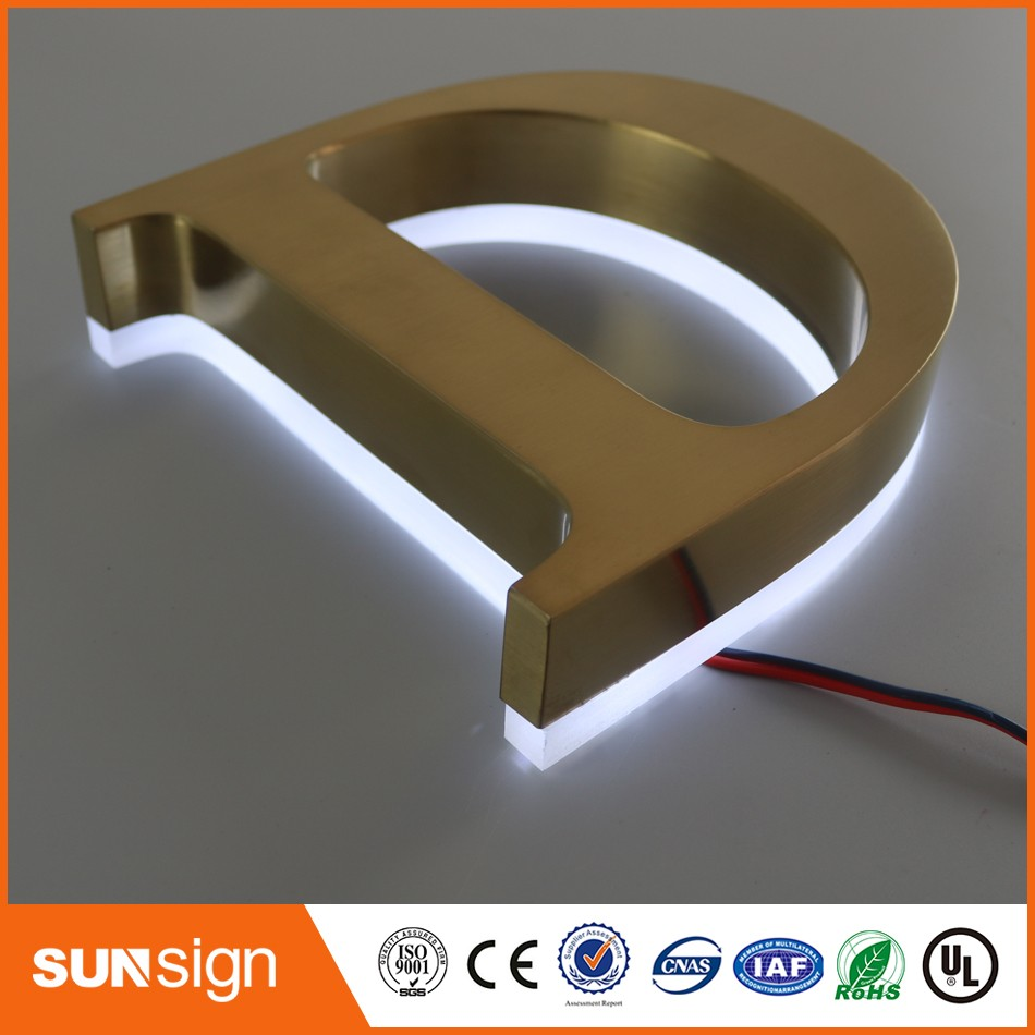 stainless steel signage letters reviews online shopping With backlit stainless steel letters