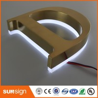 Mirror Stainless Steel Backlit Laser Cut Letters