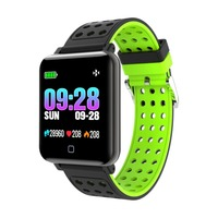 Fashion Color Screen Smart watch Blood Pressure Heart Rate Sports Pulse Meter Swimming Wristband Waterproof Bluetooth
