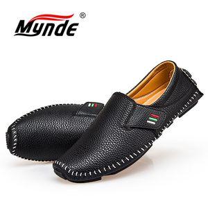 Image 5 - MYNDE חדש אופנה מוקסינים לגברים לופרס קיץ הליכה לנשימה נעליים יומיומיות גברים וו & לולאה נהיגה סירות גברים נעלי דירות