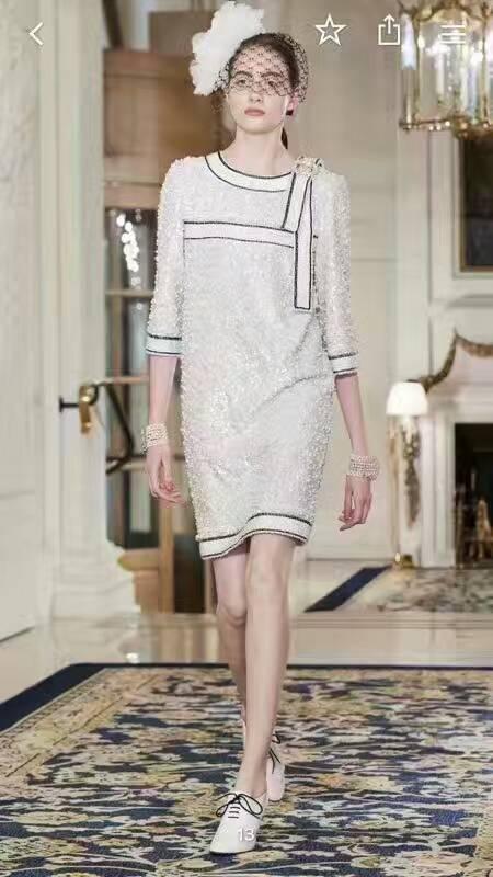 Pour Les Paillettes Robes Soirée Mode Robe Élégant Incroyable Piste Bureau Filles Robe De Slim D'été Blanc 2018 Casual CHgnqw1PF