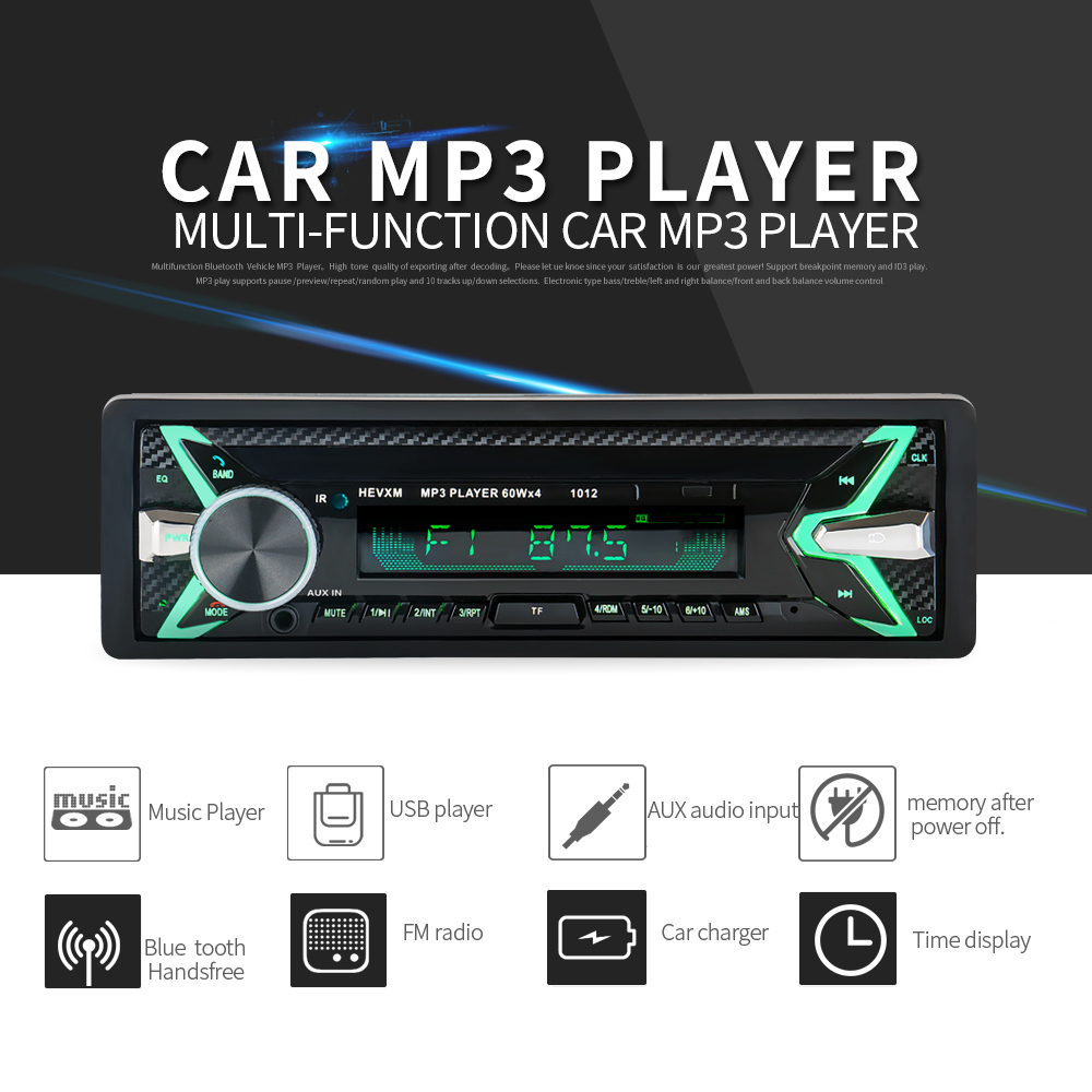 Car Radio Stereo Player Bluetooth Phone AUX IN MP3 mp3 Transmitter FM/USB/1 Din/remote control Car Audio Auto 2018 Sale New
