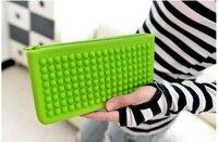 Korea Fashion Candy Jelly Soft Silicon Zipper Day Clutches Handbag Travel Passport Pockets Cases Handy Holder