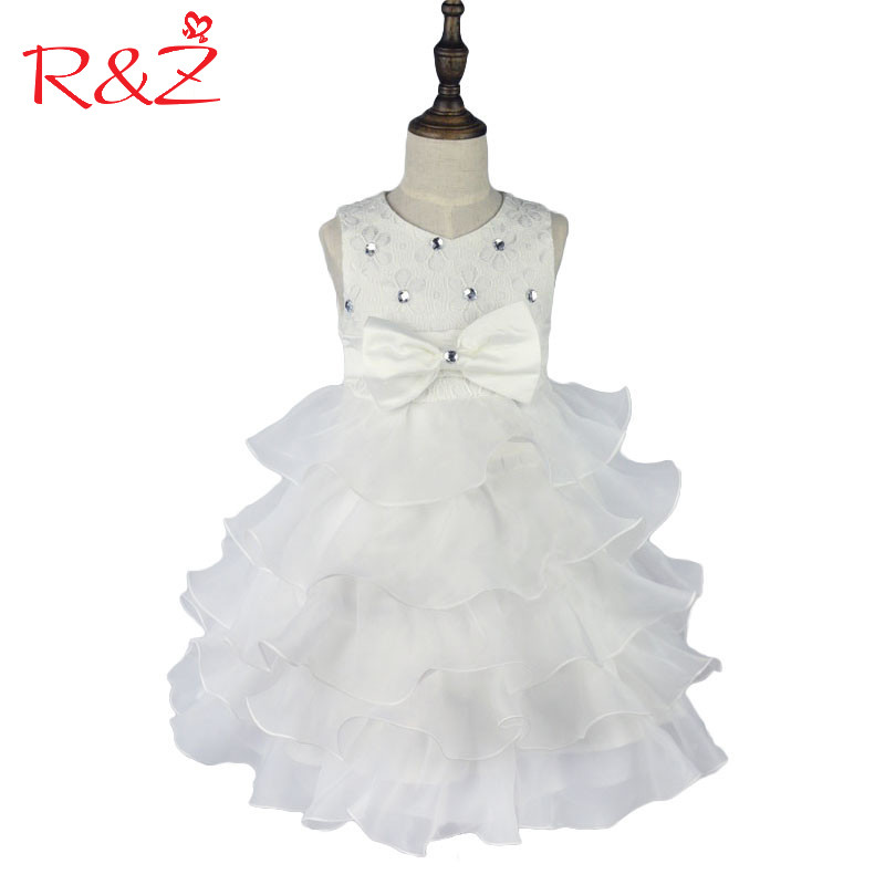 R&Z Girls Dress 2017 New Brand Girl Dress Summer 3-8 Years Floral Girls Dress Vestidos 6 Colors Wedding Party Baby Clothes k1