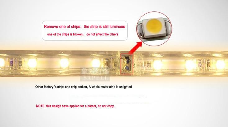 5050 LED жолағы 220V 230V 240V 5M / Roll ақ RGBY Суға - LED Жарықтандыру - фото 5