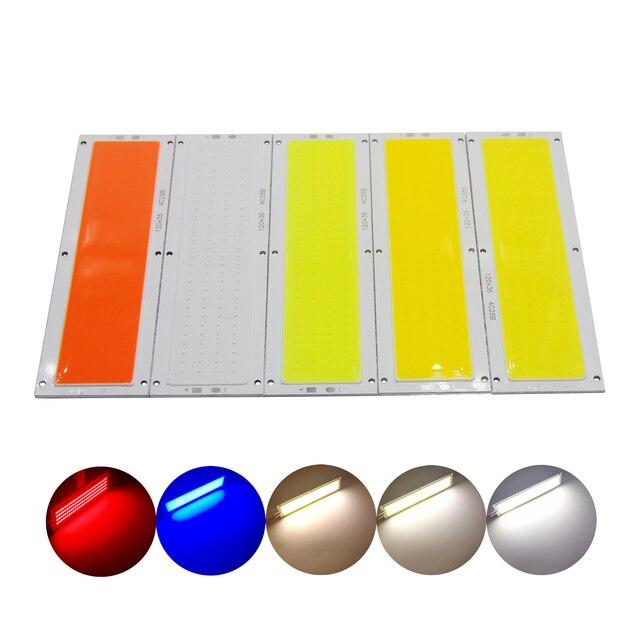 manufacturer 10PCS/Lot 120x36mm cob led Strip 12V Light 1200LM 12W Natural Warm White Blue cob LED FLIP Chip for DIY Car lamp