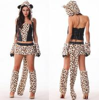 Disfraz Mujer Sexy Lovely Catwoman Costume Sexy Leopard Tiger Deguisement Cosplay Catwoman Costumes NightClubs DS Costume CE298