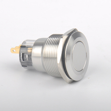 Waterproof Momentary 22mm Nickel Plated brass Reset Normally Open Metal PushButton Switch