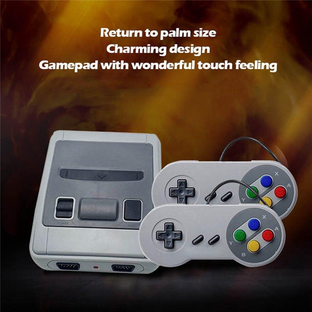 Console de jeu vidéo SNES Super NES Mini TV HDMI/AV intégrée 621 lecteur de jeu NS contrôleur pièces accessoires