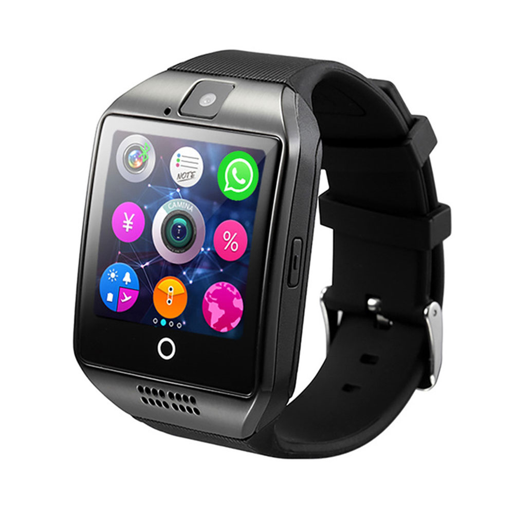 Q18 Smart Watch Support APP Download Sim TF SD Card Phone Call Push Message Camera Bluetooth Dial /Call For IOS Android Phone image
