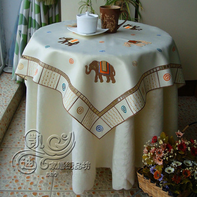 Garden Simple High-grade Embroidered Green Tablecloths Coffee Table Towel Table Runner Cover Towel Gift for Christmas zwbra shower curtain